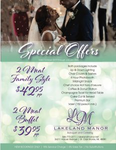 Wedding Special St Clair Shores MI