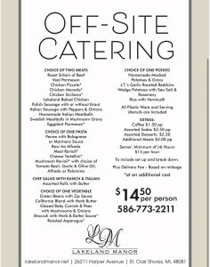 Off Site Catering Michigan